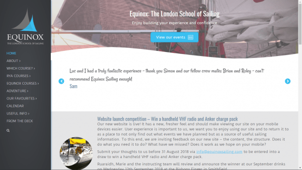 Screenshot-Equinox-Sailing-homepage