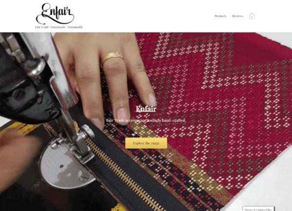 Screenshot Enfair home page