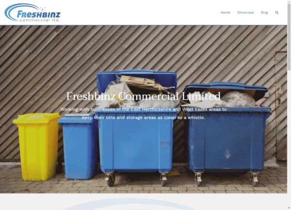Screenshot Freshbinz Commercial Home page