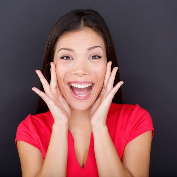 Transformed Happy Woman