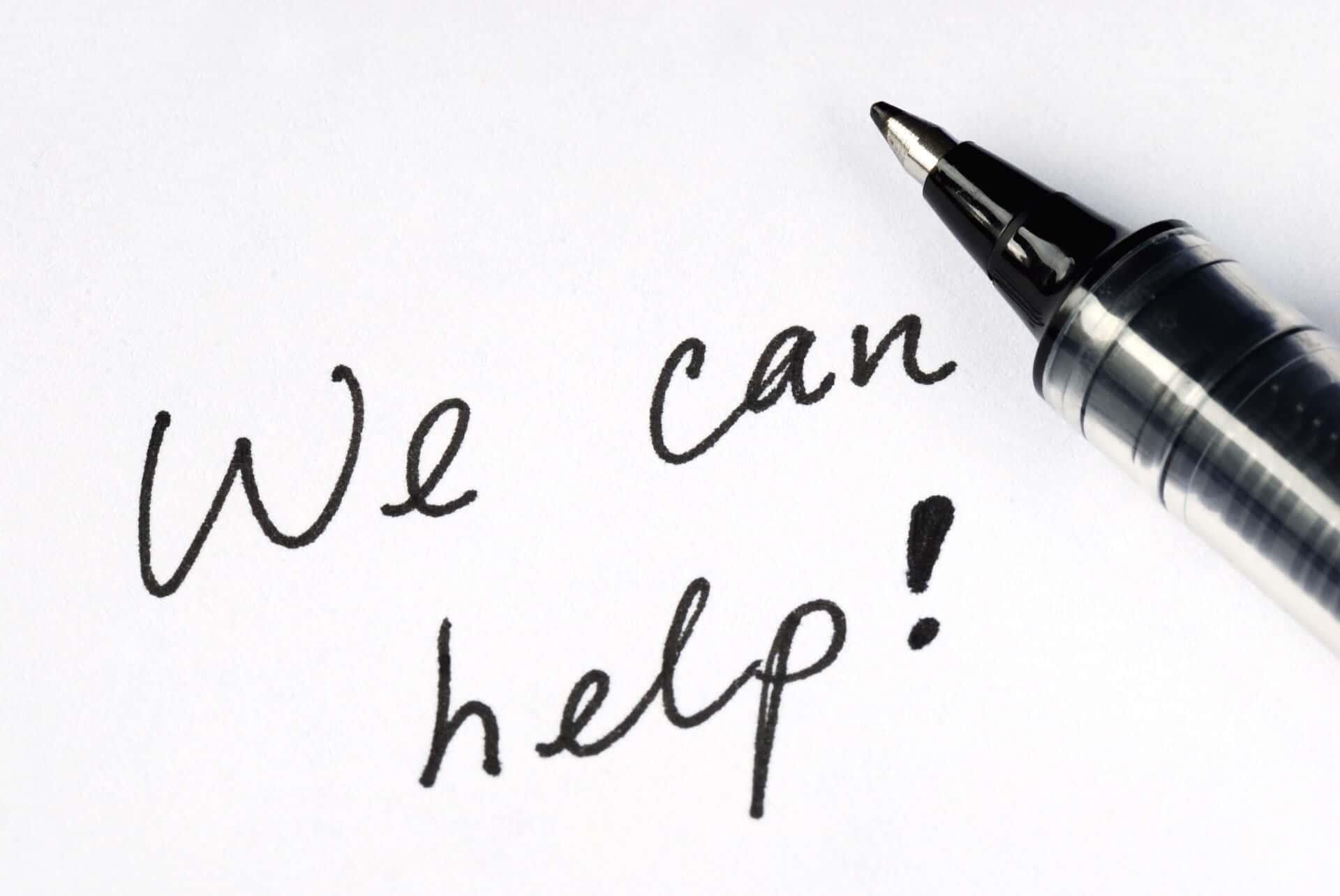 Wording: We can help!